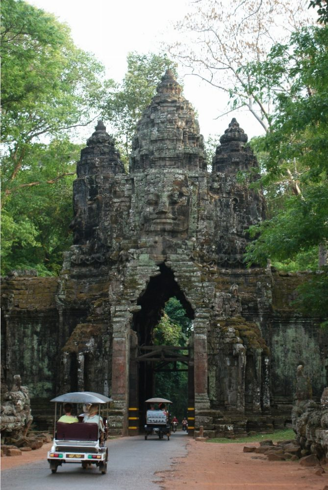A gate leading to the ancient city of Angkor Thom
