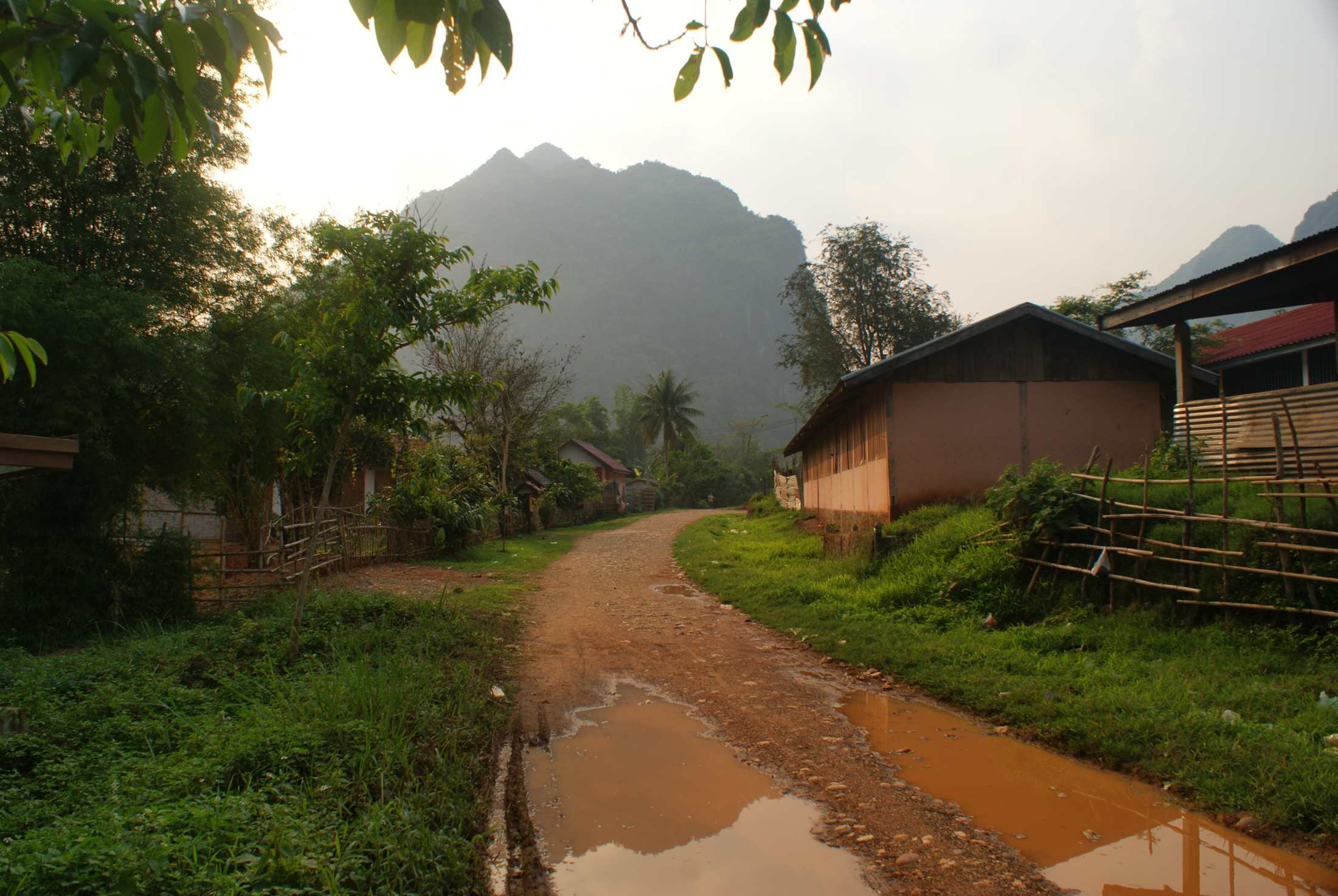Walk through Nong Khiaw after the storm