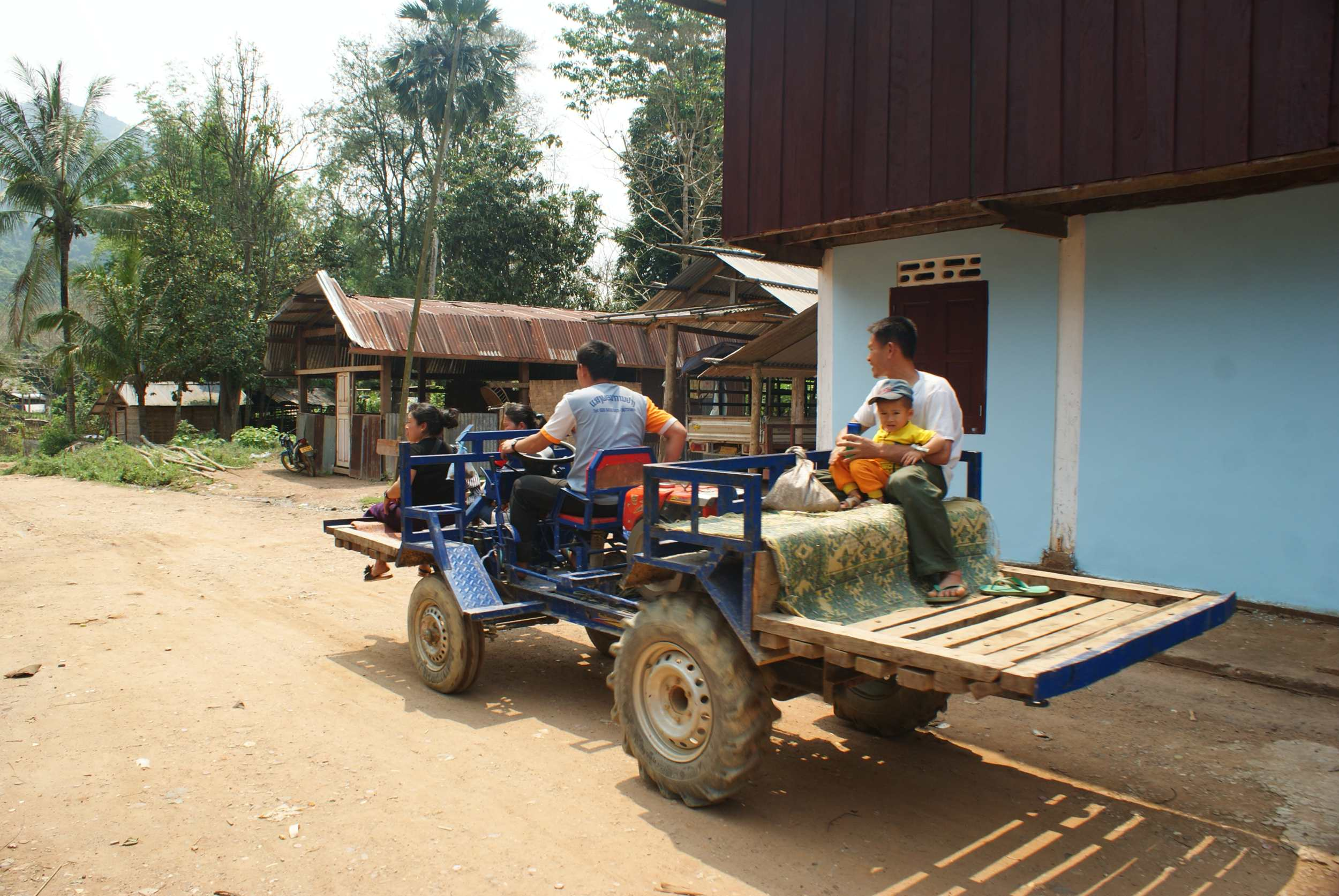 The Lao version of a tractor, used for transport between villages