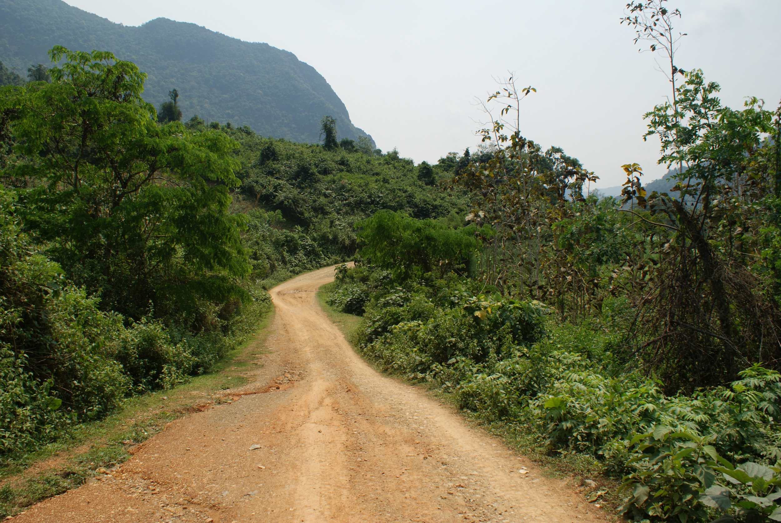 The road ahead, the only road to the next village